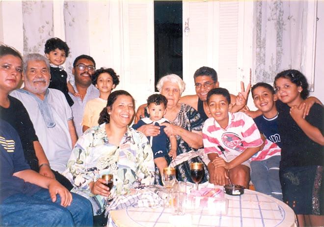 Ma Tante Naziha avec son mari, ses enfants et petits enfants