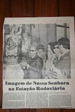 DIA DA INTRODUÇÃO DA IMAGEM DE NOSSA SENHORA DA BOA VIAGEM NO SAGUÃO DA RODOVIÁRIA DE BH-MG