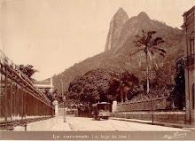 O Morro do Corcovado antes da construção do Cristo Redentor