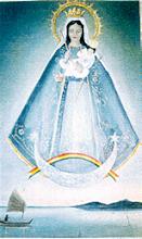 Imagem da Nossa Senhora de Copacabana que veio da Bolívia