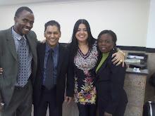 Pr  Kayod e sua esposa da Nigéria com Pr Moisés Di Souza e Juliana