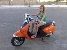 en mi moto