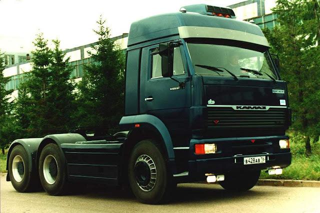 videos de camiones kamaz cabeza tractora anterior