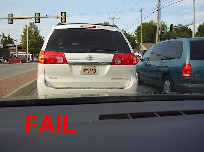 The Truth Personalized License Plate Fail