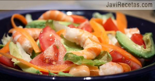 Comida italiana ensalada de aguacate y langostinos - Ensalada de langostinos ...