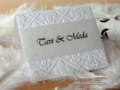 fleur de lis place card Favor box made from bookboard