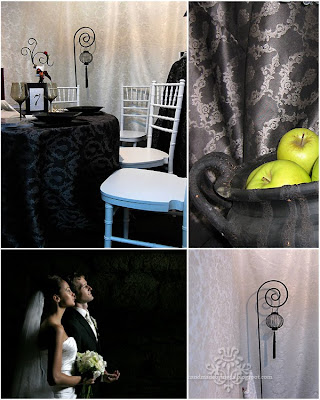 Black And Silver Wedding. Elegant Black and Silver