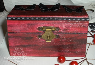 burgundy box with black butterflies