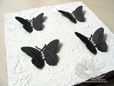 black and white buttefly canvas
