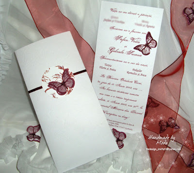 Handmade Wedding Invitations Ideas on Wedding Invitation With Butterflies  Invitatie De Nunta Cu Fluturasi