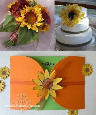 Sunny Sunflower Wedding Invitation Invitatie nunta floarea soarelui cu