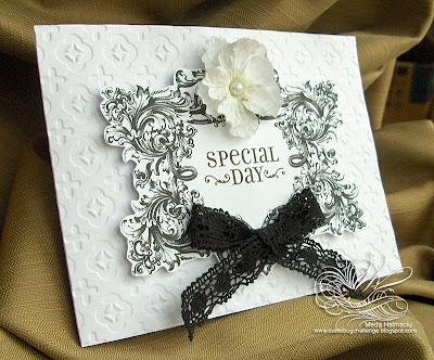 Court Wedding Black and White Card and Invitation Nunta la Palat invitatii