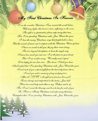 father first christmas in heaven just bcause