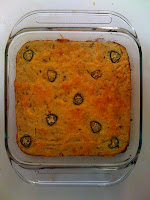 a pan of jalapeno bacon grease cornbread