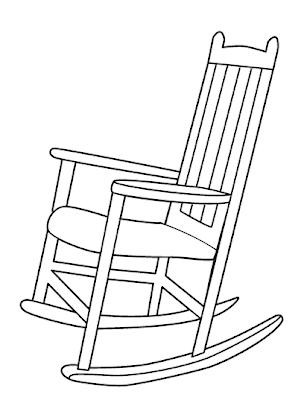 Colorir divertido cadeira de balan o para colorir - Sedia a dondolo disegno ...