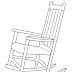Cadeira de Balanço para colorir - Desenho de Moveis para Imprimir