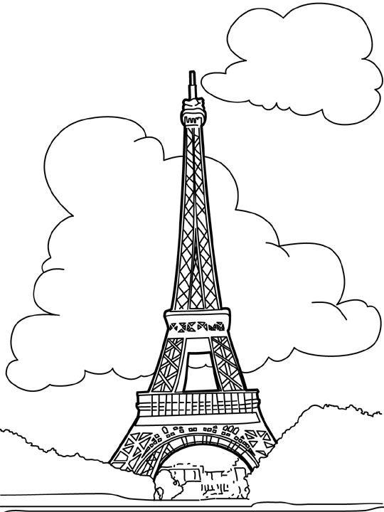 Etiquetas Colorir Paris Colorir Torre Eiffel Eiffel Paris Pintar Torre