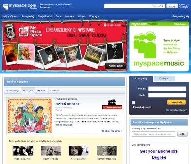 MySpace podzieliło los eBay'a