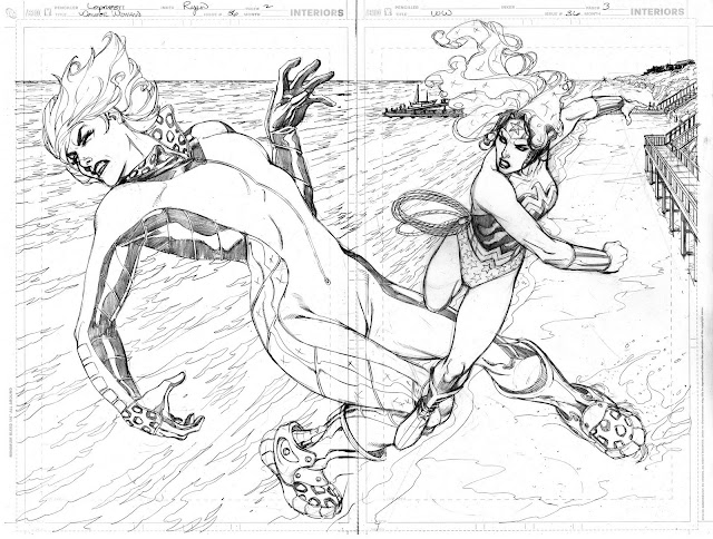 Double-Splash  de Aaron Lopresti para Wonder Woman