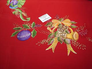 Ponemos a disposición manteles navideños pintados a mano en tela ...