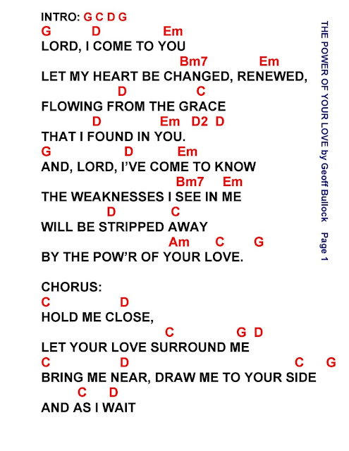 POWER OF YOUR LOVE - lyrics and chords ~ Faith and Music