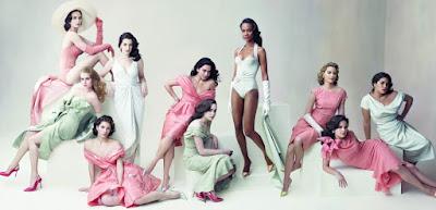 America Ferrera (Ugly Betty), 23 anos; Emily Blunt (The Devil Wears Prada), 24 anos; Amy Adams (Enchanted), 33 anos; Jessica Biel (I Now Pronounce You Chuck & Larry), 25 anos; Anne Hathaway (The Devil Wears Prada), 25 anos; Alice Braga (I Am Legend), 24 anos; Zoe Saldana (Vantage Point), 29 anos; Elizabeth Banks (The 40 Year-Old Virgin), 33 anos; and Ginnifer Goodwin (Big Love), 29 anos
