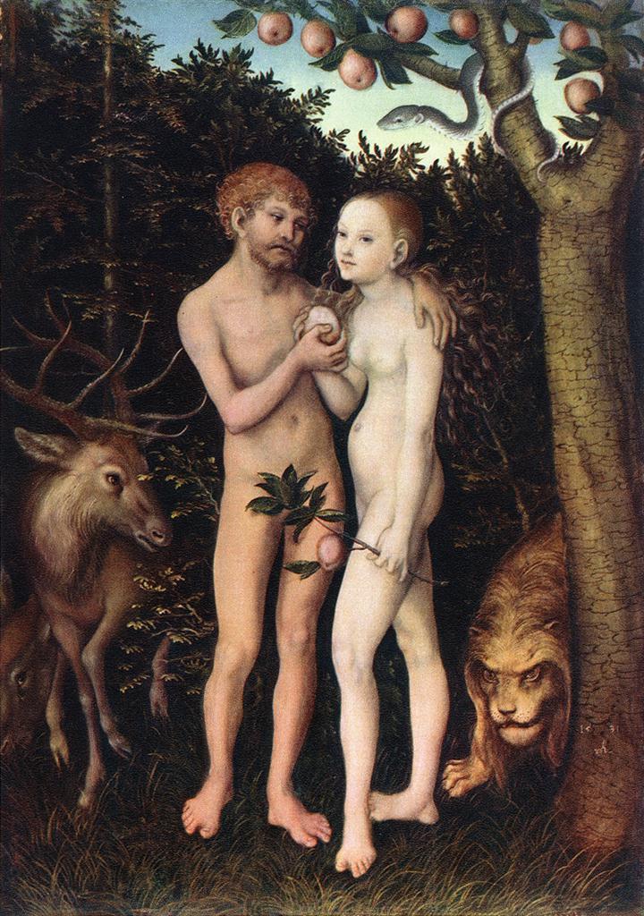 Cranach The Elder Adam And Eve Lucas Cranach Adam And Eve