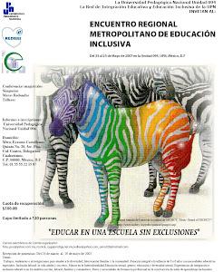 CARTELES Y LOGOS DE LOS ENCUENTROS REGIONALES RUMBO AL PRIMER FORO NACIONAL DE EDUCACIÓN INCLUSIVA