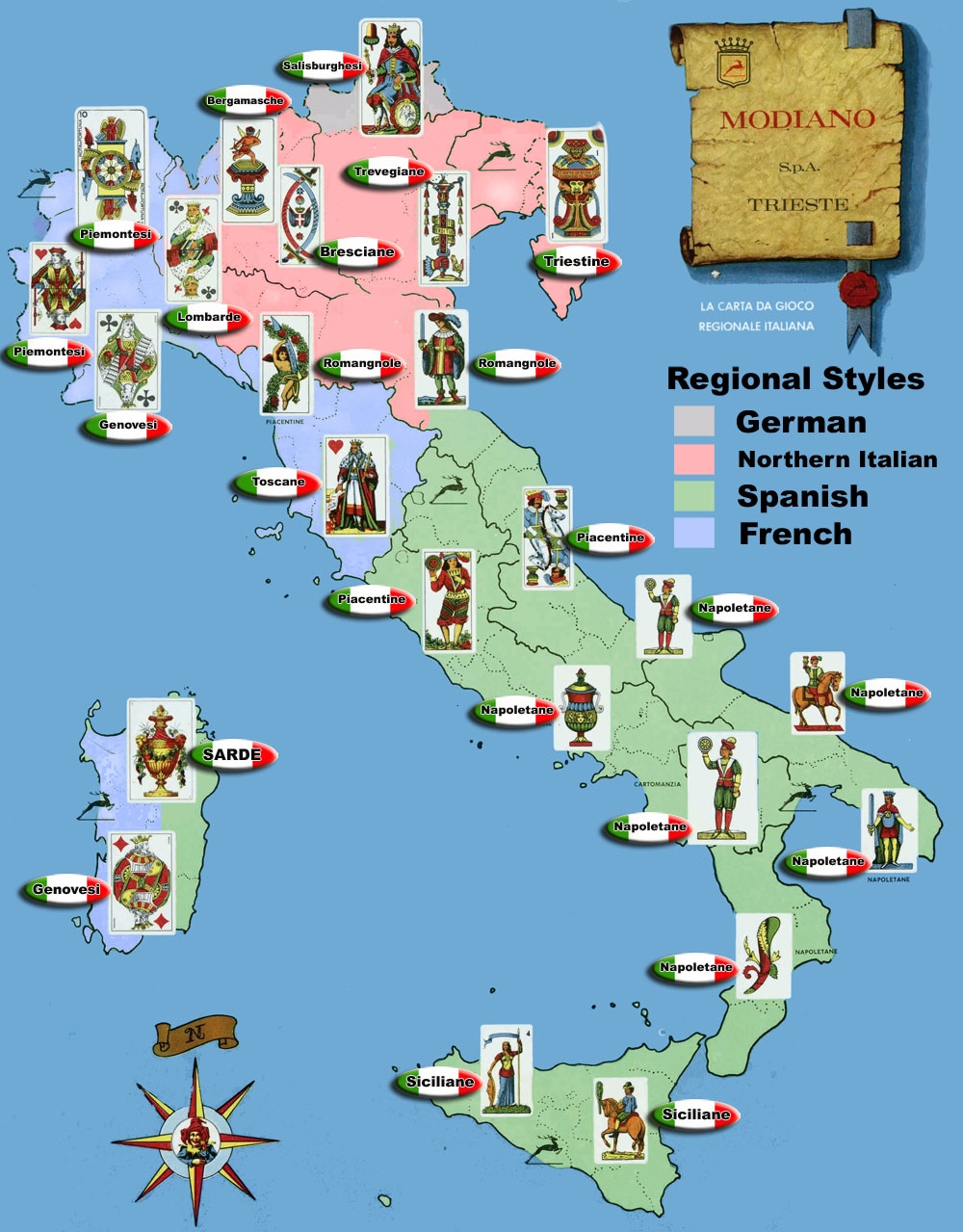 State of PlayThe Gaming Blog Italian Playing Cards Regional Map