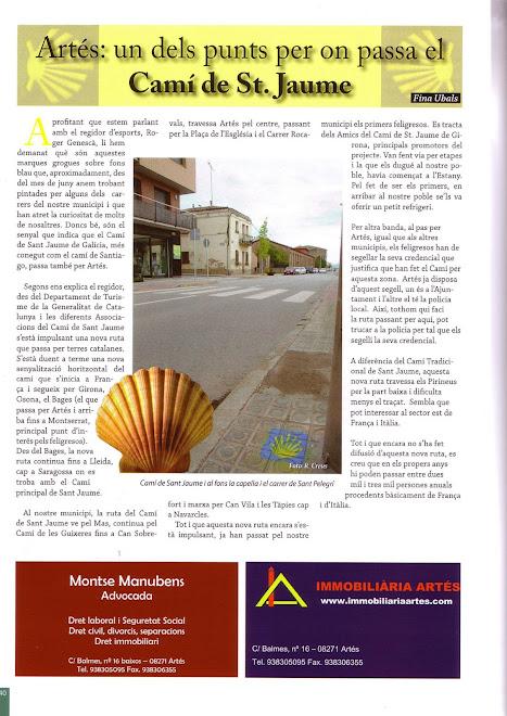 Us envio un article publicat en una revista de Artès, prop de Manresa ,on parlant de la senyalitzac