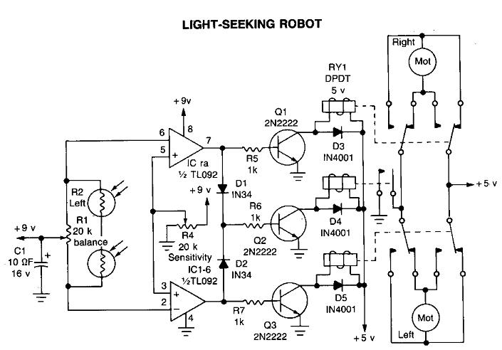 robot pencari cahaya