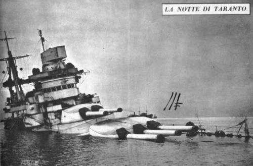 Sunken Italian Battleship
