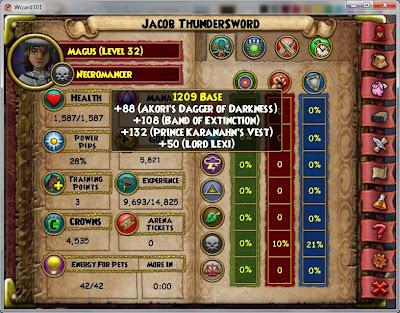 Jacob Thundersword's Health Breakdown border=