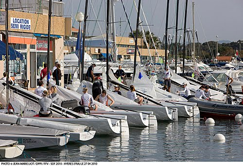April 27, 2010 Hyeres, France - Despite the wind coming in for a couple of ...