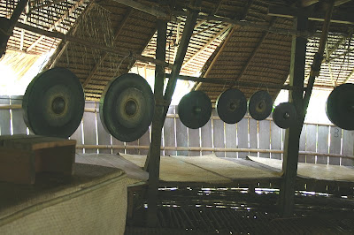 Gongs hung in the headhouse.