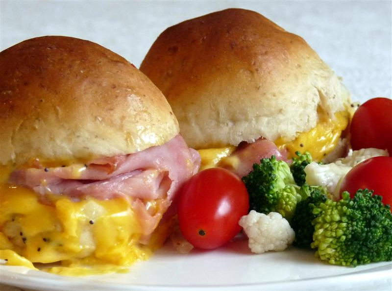 Hot Ham and Cheese Sandwiches with Onion Butter by ButterYum