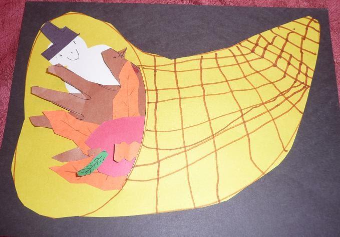 Preschool crafts for kids thanksgiving cornucopia craft 1 for Pre k turkey crafts