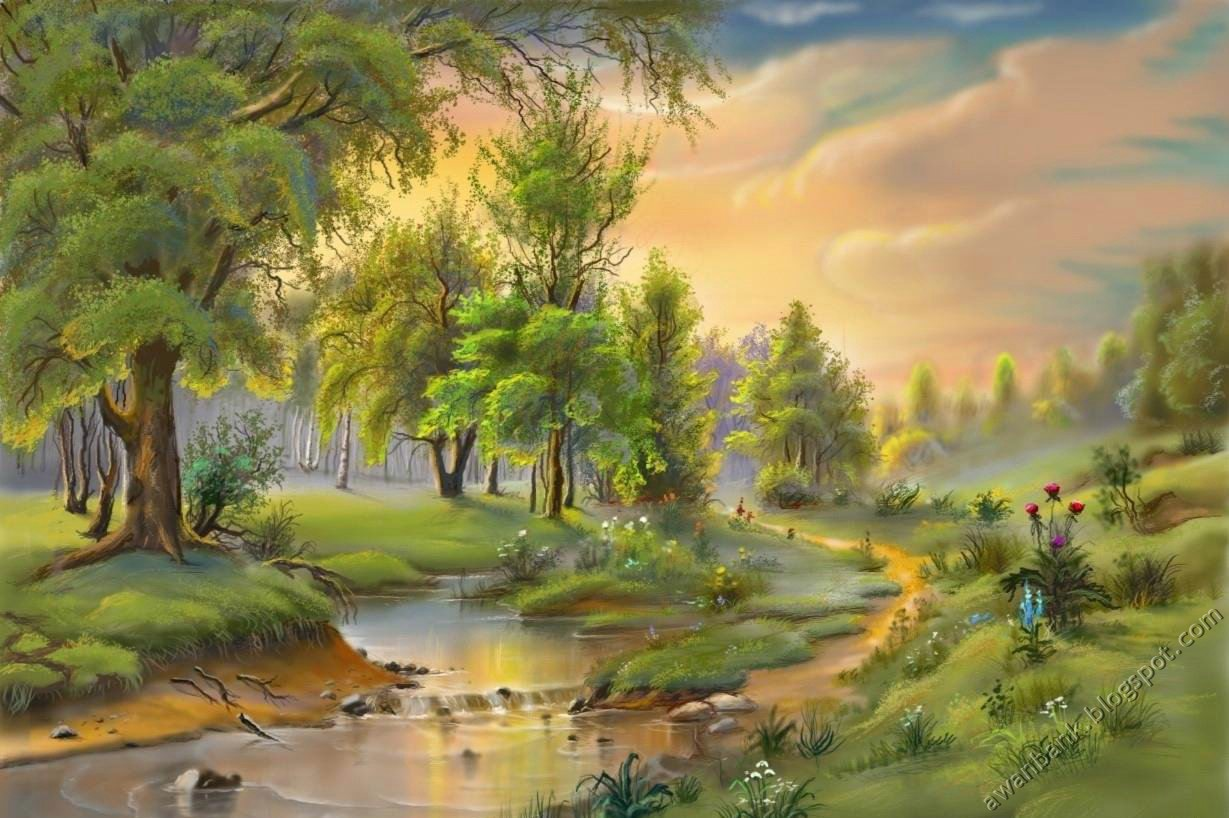 World Of Adam: COOL NATURE PAINTINGS