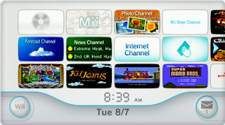 The Wii menu, courtesy of Wikipedia