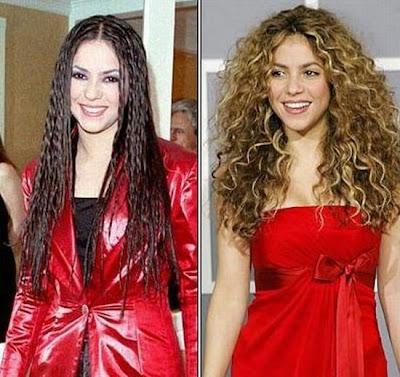 El Antes y Despues de la Estrellas - Shakira