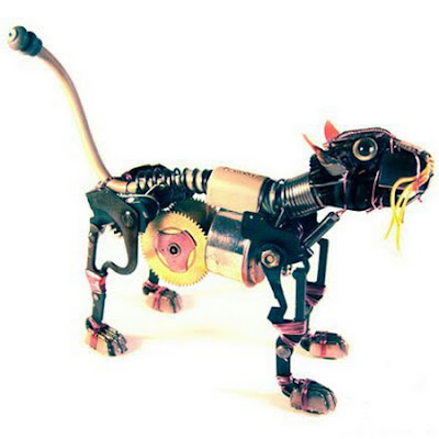 Animales hecho de Antiguos Componentes Electrónicos
