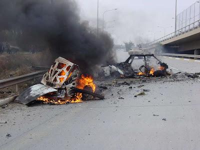Fotos de Carros Bomba - Después de Estallar