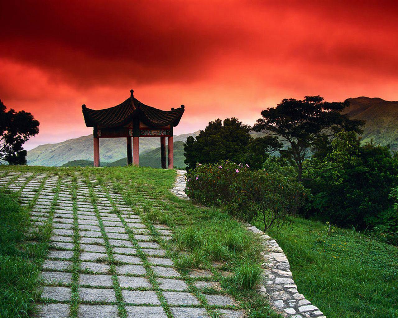 temple japan landscape wallpaper - photo #15