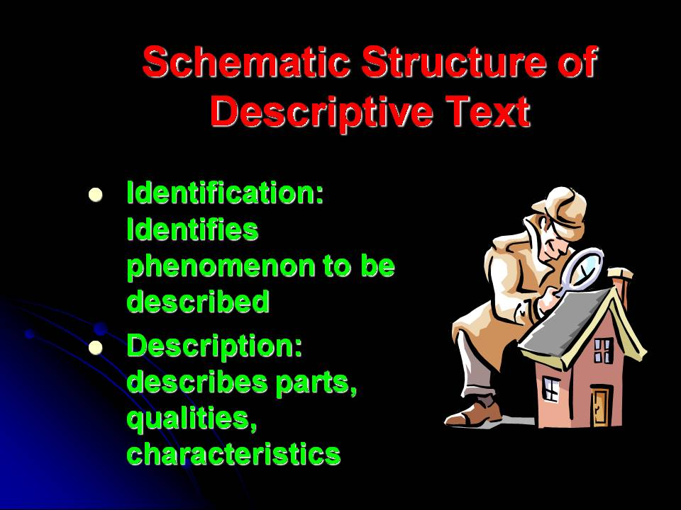 Generic Structure of Descriptive Text