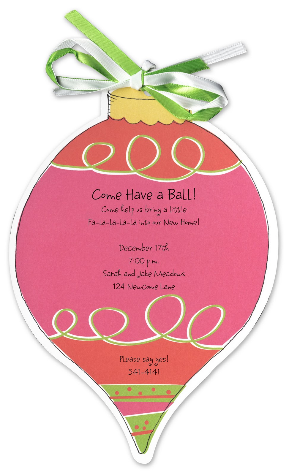 Ornament party invitations - Decorating For This Party Is Simple Simply Hang Ornaments In The Party Space