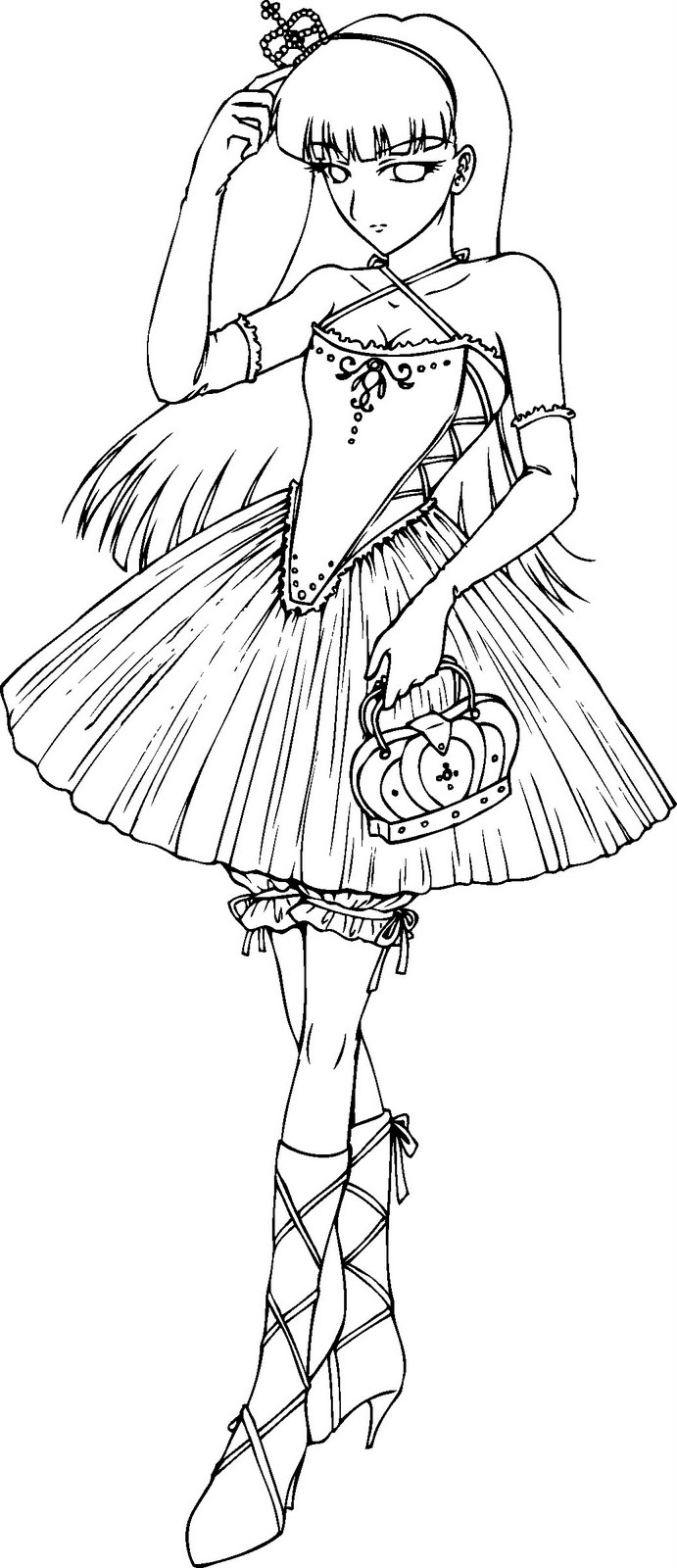 Hentai Gothic Anime Coloring Pages
