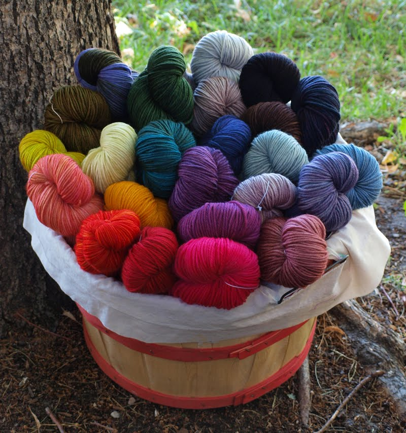 Knitting With Two Colors Carrying Yarn : Fancy tiger crafts new madelinetosh hand dyed yarns