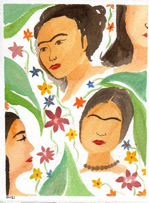 Fantasia Di Frida Kahlo ( Aquerello)