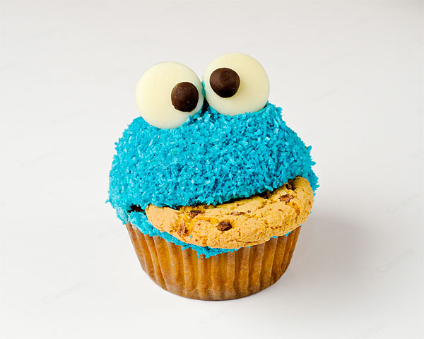 cookie monster cake. Cake and cookies together in
