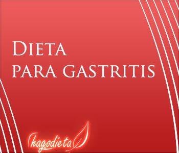 Dieta para gastritis